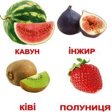 Украинские карточки «Фрукты» (МИНИ), 20