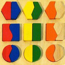 Вкладыши-дроби «Круг-квадрат-шестиугольник»