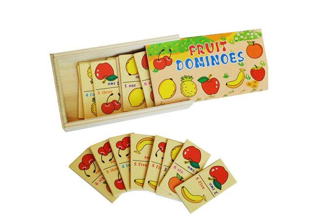 Домино макси «Фрукты-ягоды».