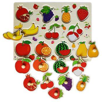 Вкладыши «Подбери фрукты»