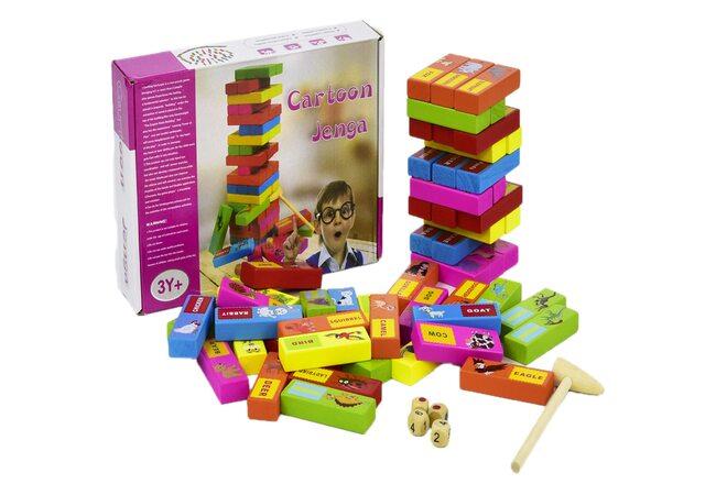Настольная игра «Дженга. Животные», 54 дет.