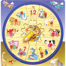 Часы-пазл «Животные»
