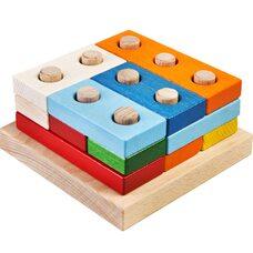 Головоломка-пирамидка из цветных плашек (большая)