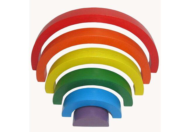 Пирамидка «Радуга» детская (6 цветов) от ТМ «HEGA»