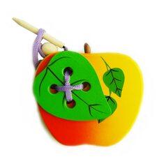 Шнуровка яблоко с листочком