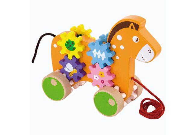 Каталка с шестеренками «Лошадка»