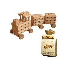 Паровозик деревянный, 100 дет.