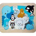 «Животные Антарктиды», мозаика + рыбалка, 28 дет.