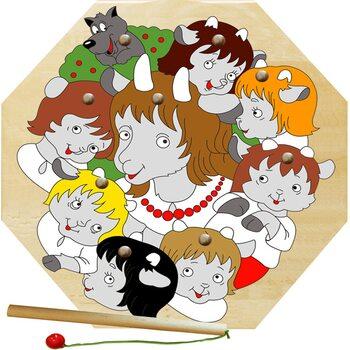 «Семеро козлят», мозаика + рыбалка, 9 дет.