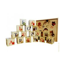 Английский алфавит, 16 кубиков.