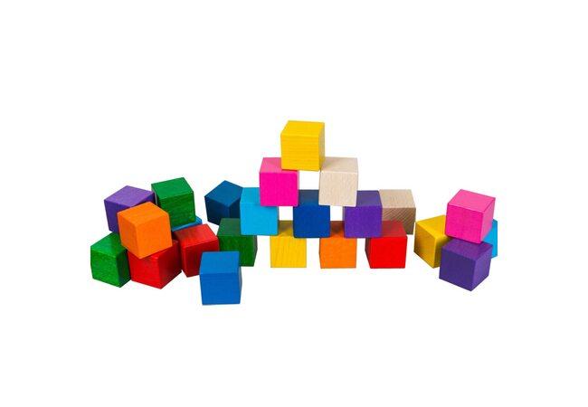Цветные кубики, 25 шт.