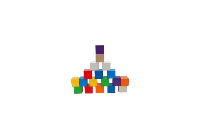 Цветные кубики, 18 шт.