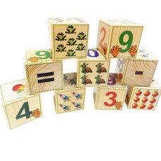 Кубики «Цифры», 9 шт.