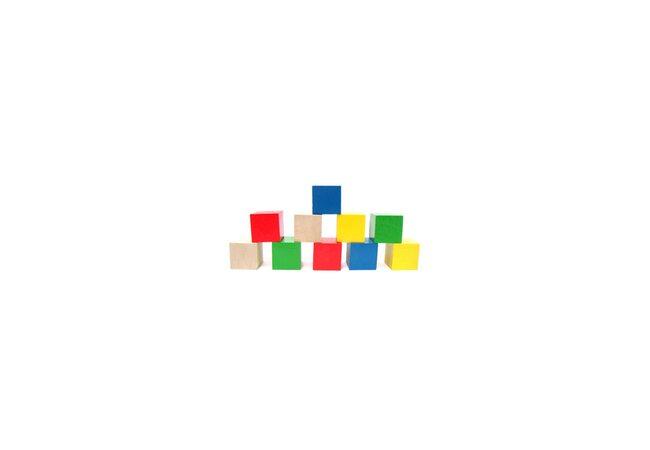 Цветные кубики, 10 шт.