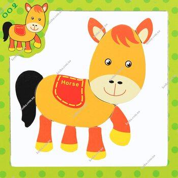 Магнитный пазл «Лошадка»