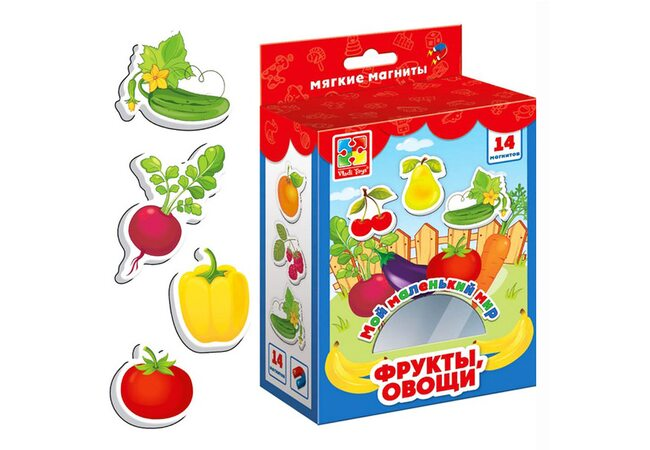 Магниты «Фрукты-овощи» (рус.)