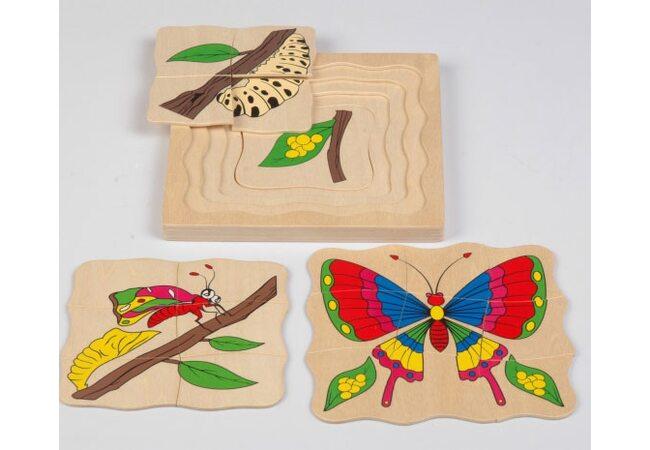 Пазл «Бабочка», 4 в 1