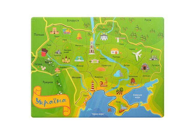 Пазл «Карта Украины»
