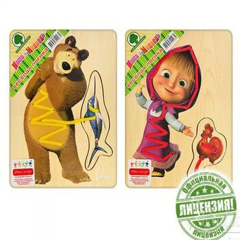 Шнуровка «Маша и Медведь»