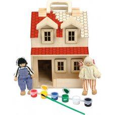 Кукольный домик-раскраска