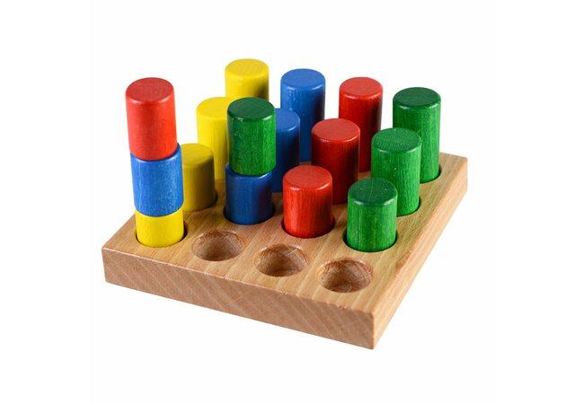 Игра «Цветные цилиндры» №2.