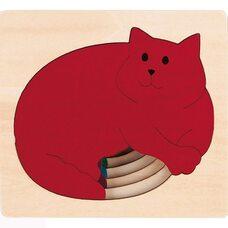 Пазл пятислойный «Кошка» (больше-меньше), 5 дет.