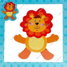 Магнитный пазл «Лев»