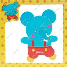 Магнитный пазл «Слон»