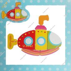 Магнитный пазл «Подводная лодка»