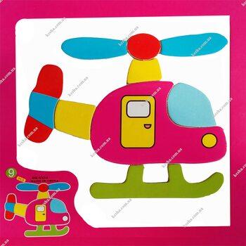 Магнитный пазл «Вертолет»