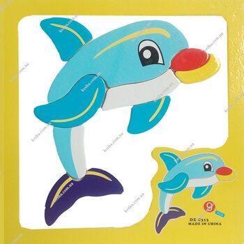 Магнитный пазл «Дельфин»