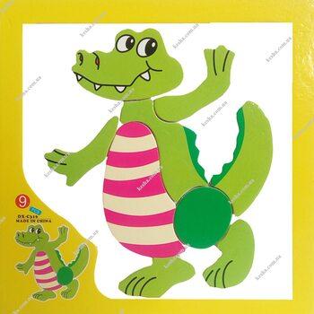Магнитный пазл «Крокодил»