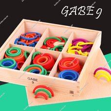 Игровой набор Дары Фребеля. Комплект 9 - Кольца и полукольца.