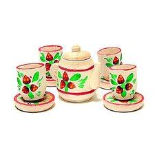 Чайный сервиз на 4 персоны красочный