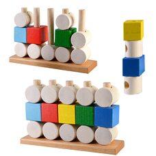 Пирамидка кубики и цилиндры