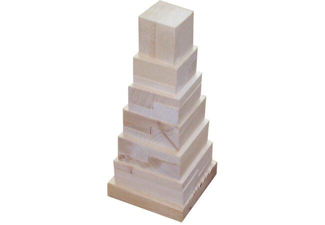 Пирамидка квадратная(неокрашенная)