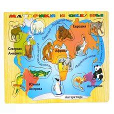 Вкладыши «Материки и океаны»