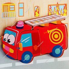 Объемный пазл-вкладыш «Пожарная машина»