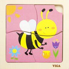Пазл «Пчелка», 4 дет.