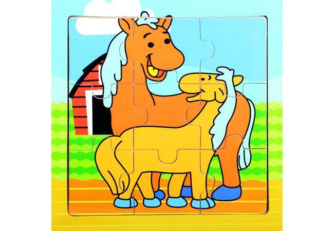 Пазл «Лошадки», 9 дет.