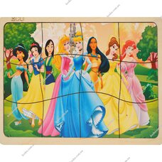 Пазл в рамке «Принцессы», 12 эл.