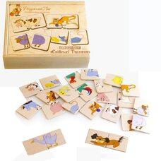 Пазловая игра «Половинки» (Домашние животные)