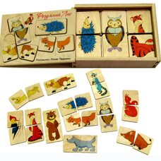 Пазловая игра «Половинки» (Лесные животные)