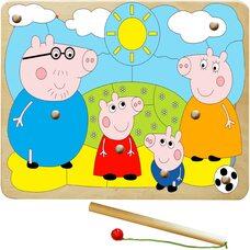 «Свинка Пеппа», мозаика + рыбалка, 25 дет.