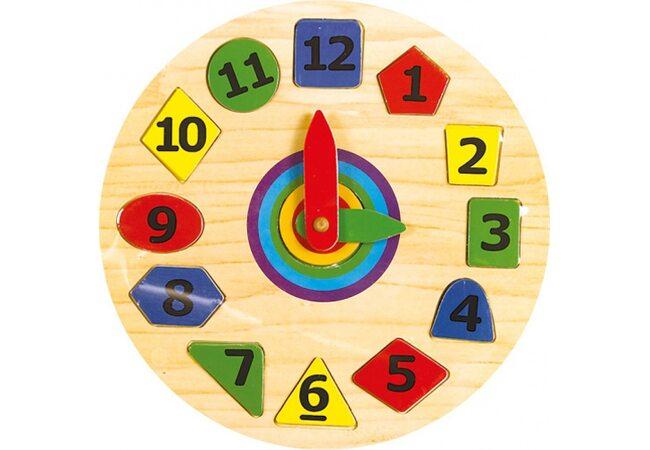 Часы с геометрическими фигурами