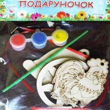 Ёлочные украшения: петушок, колокольчик, снежинка
