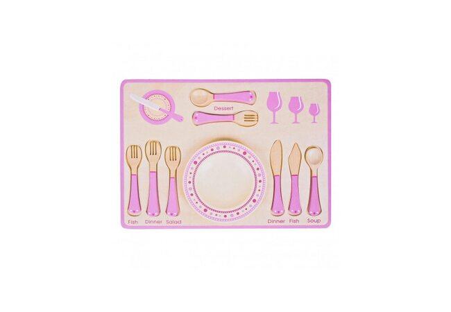 Набор столовых приборов «Розовый»
