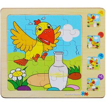 Пазл 4 в 1 «Птичка», четырехслойный 57 дет.