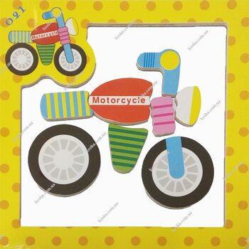 Магнитный пазл «Мотоцикл»