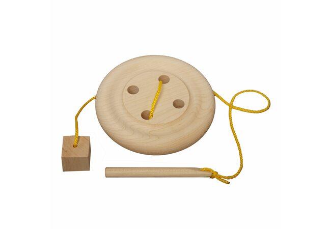 Деревянная шнуровка «Пуговица»